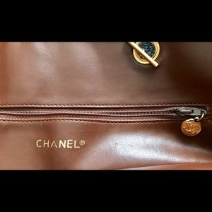 CHANEL Bags - Vintage Chanel Brown Quilted Lambskin Tote